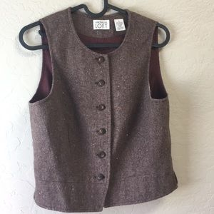 Button up structured wool vest